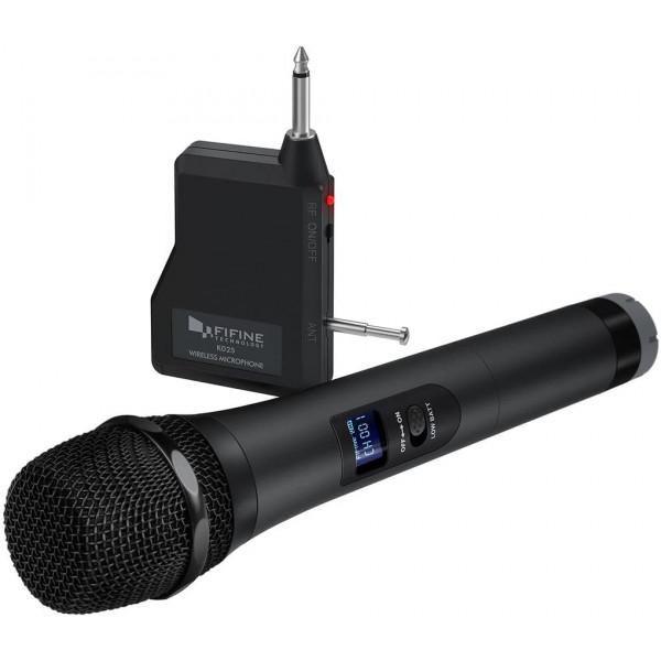 FIFINE Microfono inhalambrico con Recept...