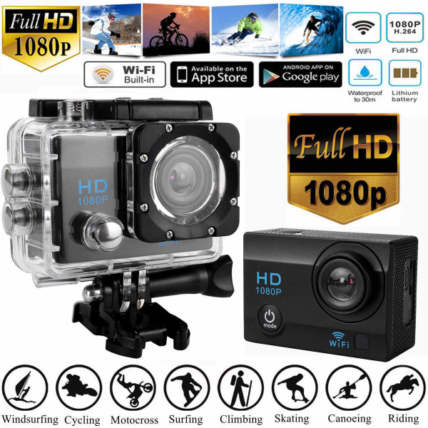 Camara Sports HD DV 1080p h.264/ WiFi/ R...