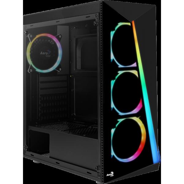 Case Aerocool SHARD-G-BK-V2 / 4 PCS RGB ...