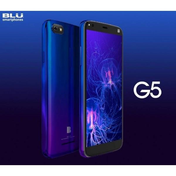"Celular Blu G5 OC 1.6Ghz/ 2GB Ram/ 32GB Mem Interna/ Pantalla 5.5""/ Cam 13.0 MP/ 4G HSPA+/ Android 9"