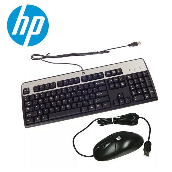 Combo de teclado y mouse usb Hewlett Pac...
