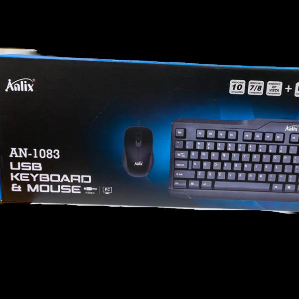 Combo de teclado y mouse alambrico Anlix...