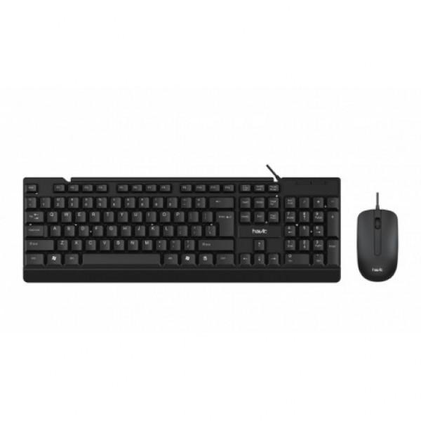 Combo de teclado y mouse Havit KB272CM c...