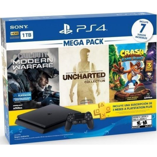 Consola Playstation 4 Hit Bundle 1TB + 7...
