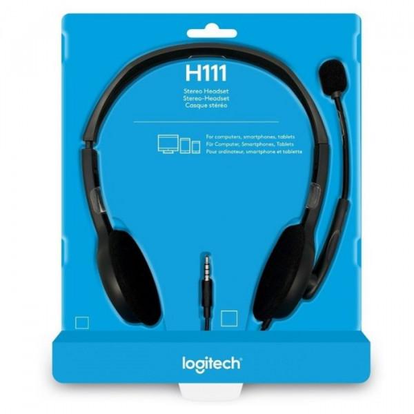 Headset Logitech / Modelo: H111 / 1 cone...