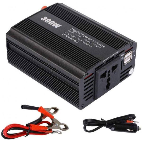 Inversor de corriente DC to AC 300W / 2 ...