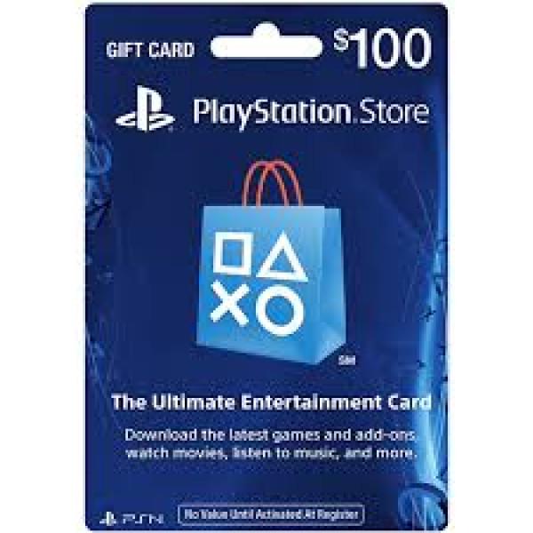 PSN Playstation Network Card $100.00