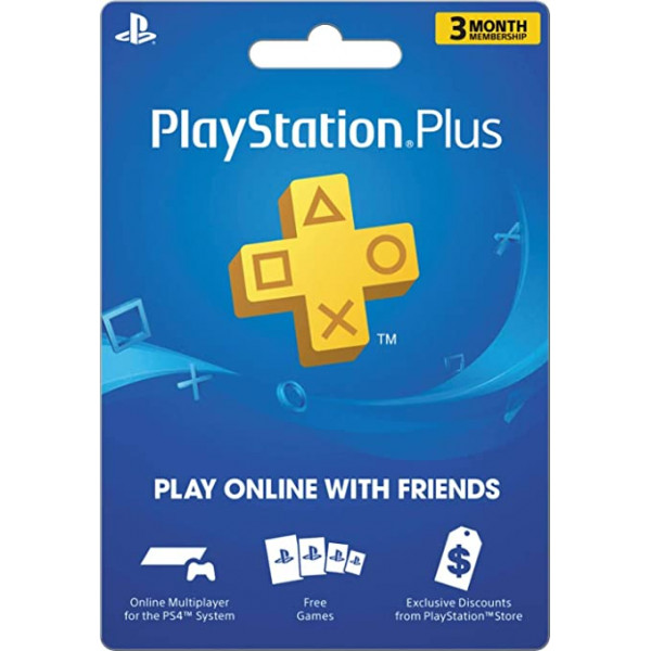 PSN Playstation Plus 3 meses de suscripc...