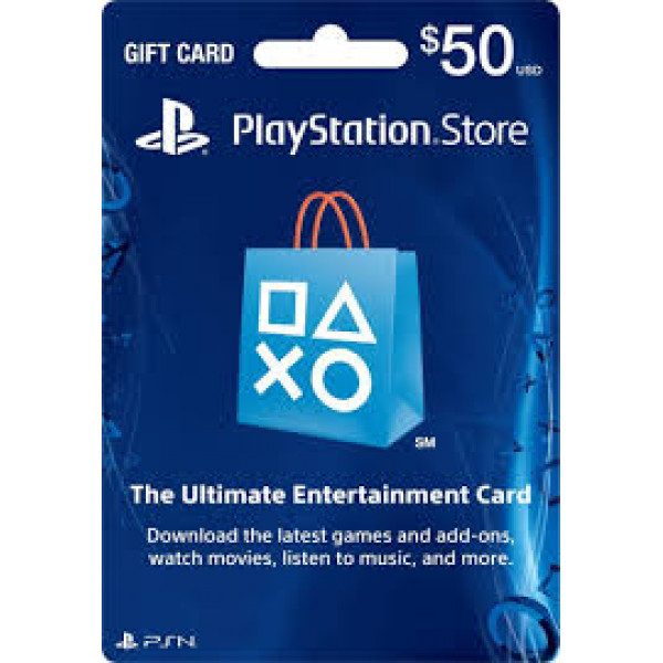 PSN Playstation Network Card $50.00