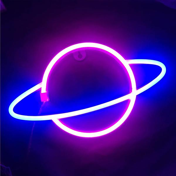 Luz led planeta neón