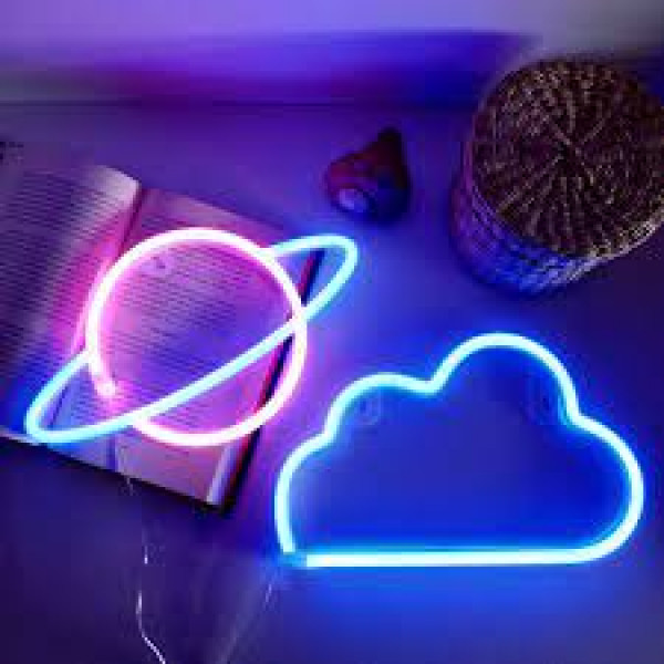 Luz led planeta y nube
