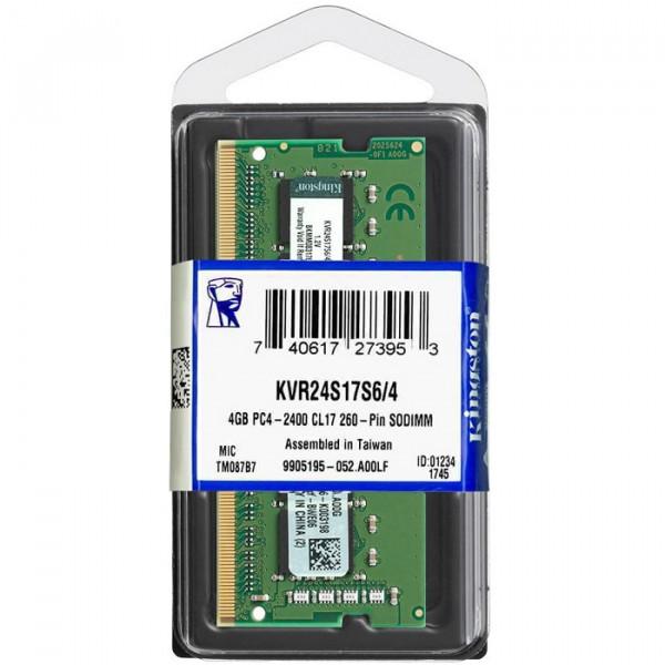 Memoria Kingston 4GB DDR4-2400Mhz Sodimm...
