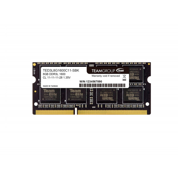 Memoria Team 8GB DDR3L-1600 Notebook Sodim TED3L8G1600C11-SBK