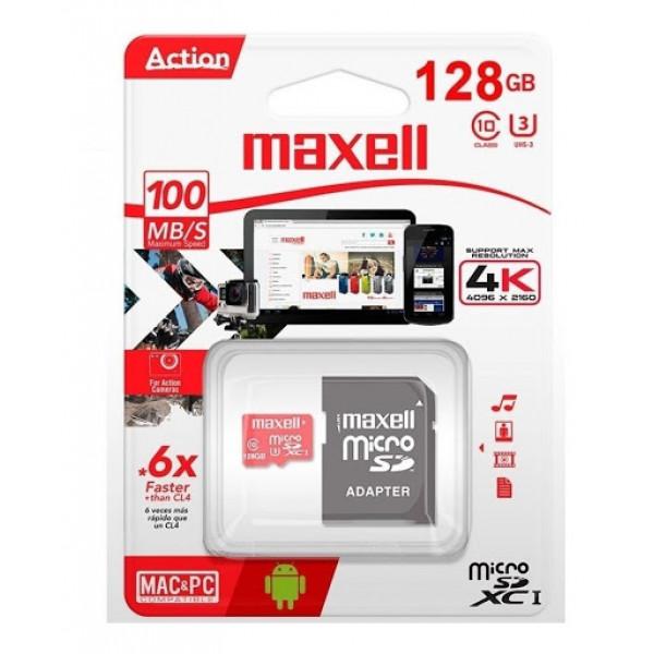 Micro SD Action Pro Maxell 128GB 4k