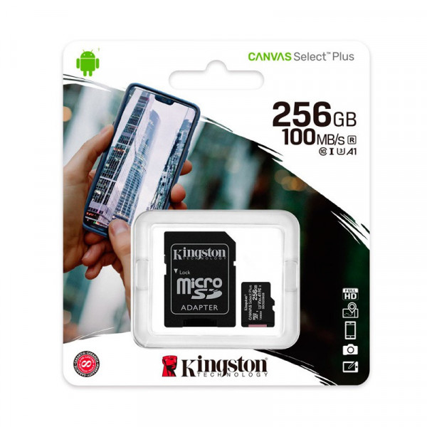 Memory Card Micro SDXC Kingston 256GB Ca...