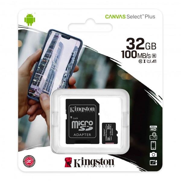 Micro SD Kingston 32GB Clase 10 V30 HC 1...