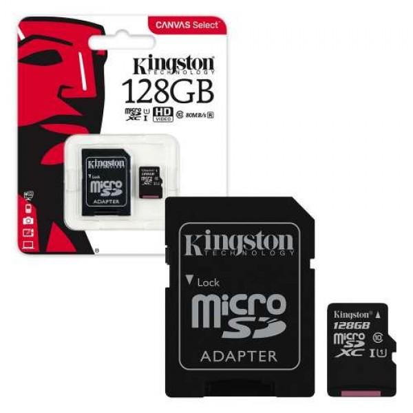 Memory Card Micro SDXC Kingston 128GB Cl...