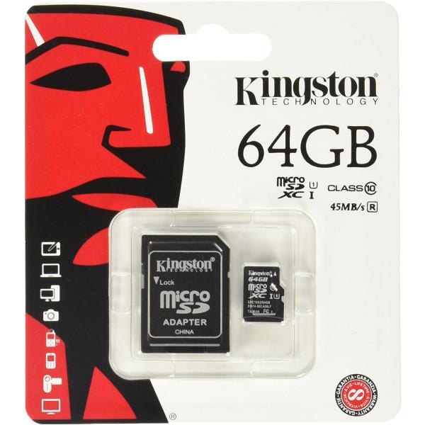 Memory Card SDXC Kingston 64GB Clase 10 ...