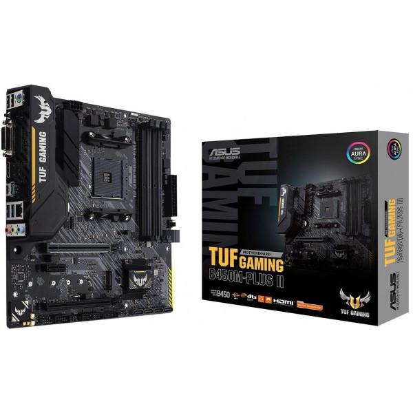 Motherboard Asus TUF GAMING B450M-Plus II/ AMD AM4 Ryzen/ 4xDDR4 4400Mhz/ Sata 3/ USB3.0/ Aura Sync