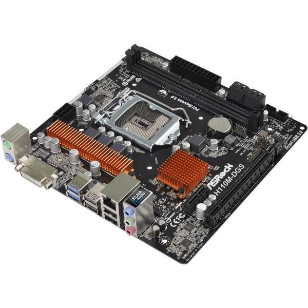 Motherboard Asrock H110M-DGS LGA1151 2xD...