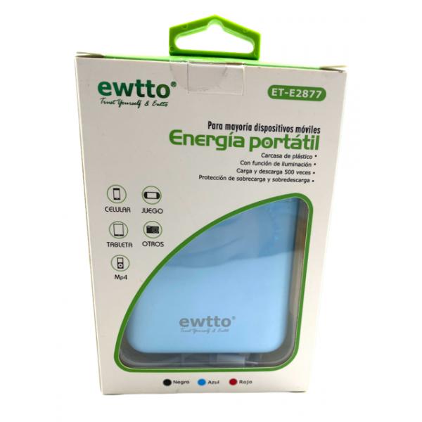 Bateria Cargador Power Bank ewtto 8000mA...