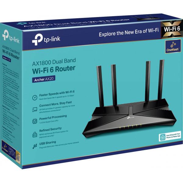 AX1800 Archer AX20 Wifi 6 Router dual ba...