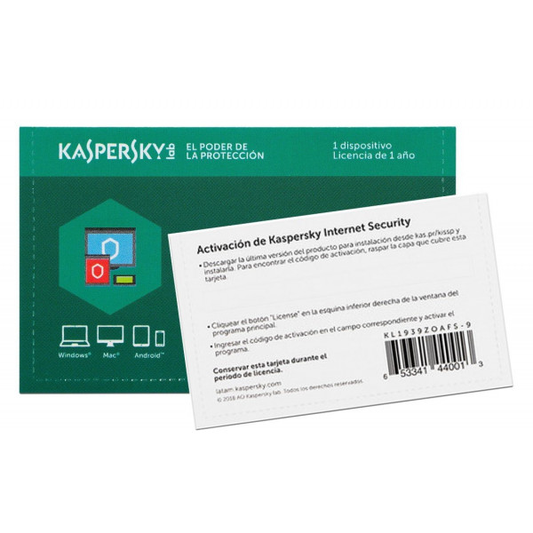 Kaspersky Internet Security / Tarjeta