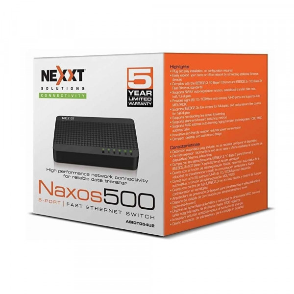 Switch Nexxt 10/100mbps 5pt
