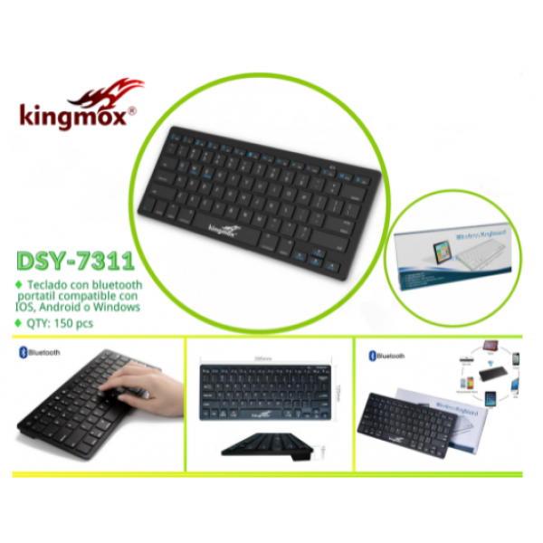 Teclado Mini Bluetooth Kingmox 7in Andro...