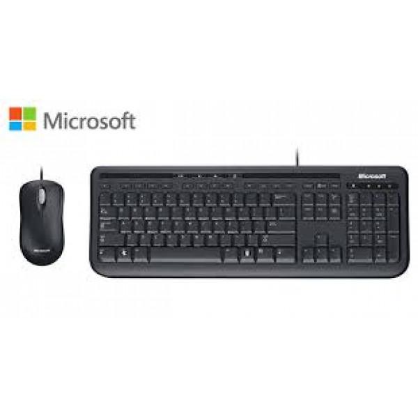Combo de Teclado y Mouse Microsoft Wired Desktop 600 USB