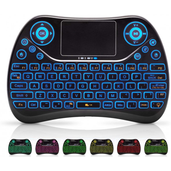 Mini Keyboard Mouse bluetooth RGB