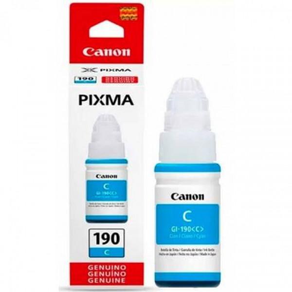 Botella de Tinta Canon GI-190C Cyan