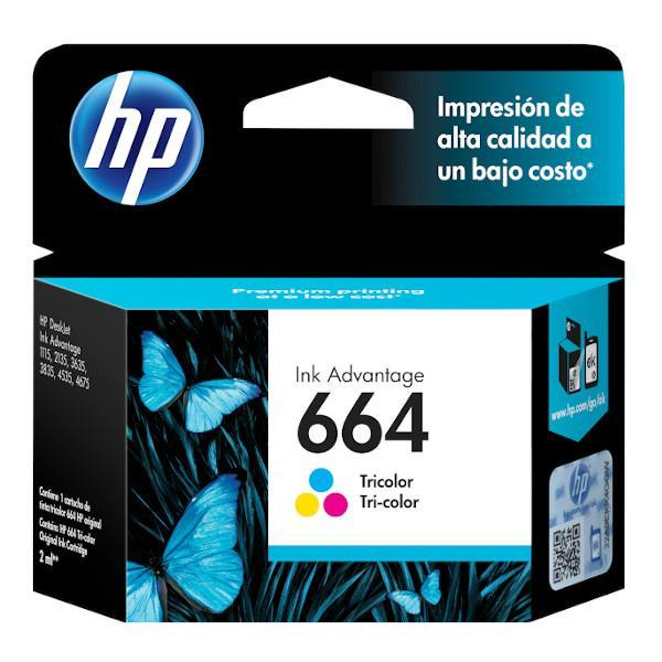 Cartucho de Tinta Hp 664 Color F6V28AL