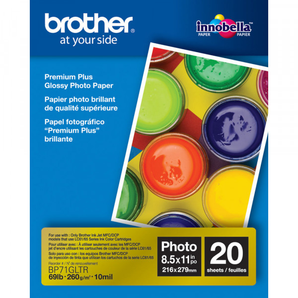Papel Fotografico Brother 8.5X11 20und