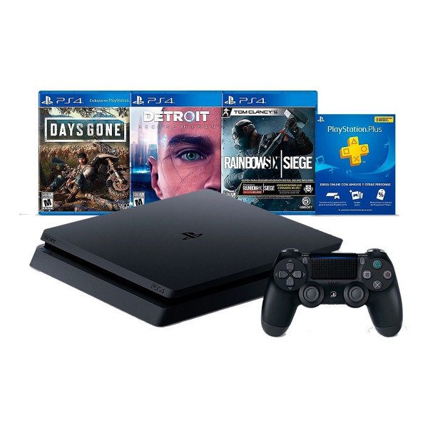 Consola Sony Playstation 4 1TB + 3 Juego...