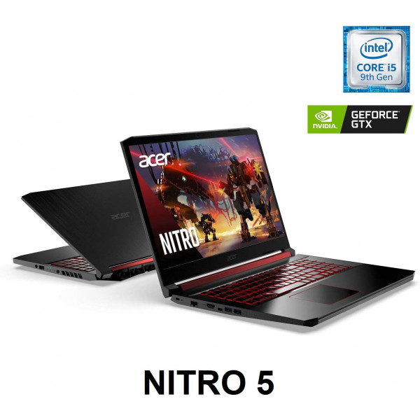 Gaming Laptop Acer Nitro 5 Intel Core i5-9300H/ 8GB DDR4/ SSD NVMe 256GB/ Full HD 15.6/ GTX 1650/ Teclado Ilumniado Ingles