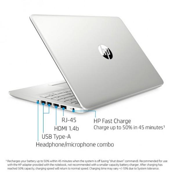 Notebook HP 14-dk1022wm AMD Ryzen 3 3250U 3.5Ghz/ 4GB DDR4/ Disco SSD 128GB/ Win10/ LED 14/ WiFi