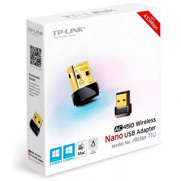 Adaptador TP-Link USB WiFi Archer T1U AC...