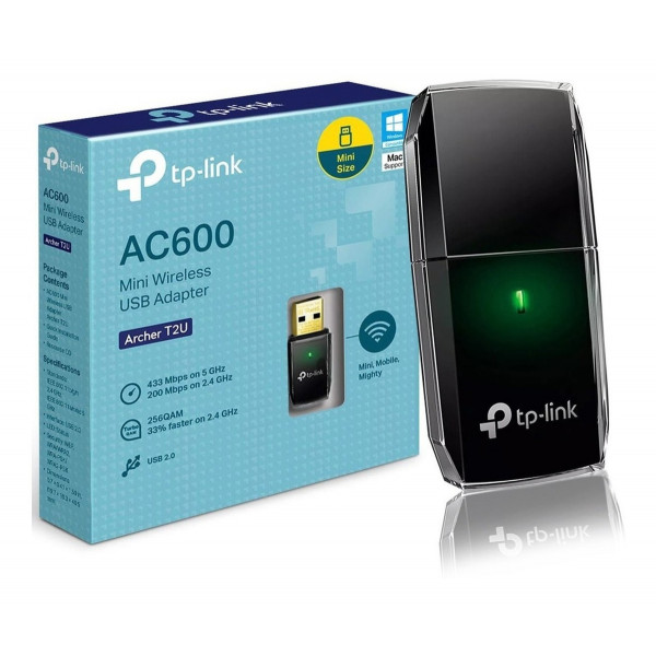 Adaptador TP-Link USB WiFi Archer T2U AC...